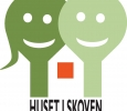 Huset I Skoven logo til trykkeri og beskæring