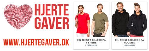 d73f85e307e ... dit eget tryk vil vi gerne anbefale vores søsterside:  www.hjertegaver.dk. Her kan du designe din helt egen personlige trøje med  dit eget motiv og tekst.