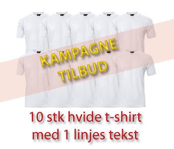 T-shirts med A4 fuldfarvetryk
